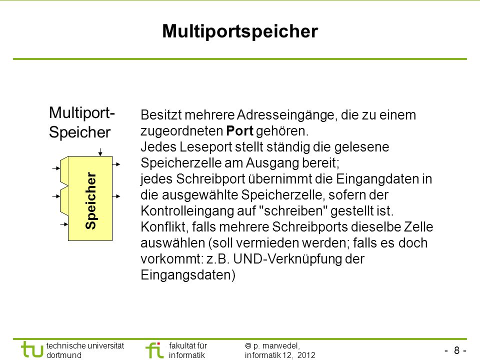 Multiportspeicher Multiport-Speicher
