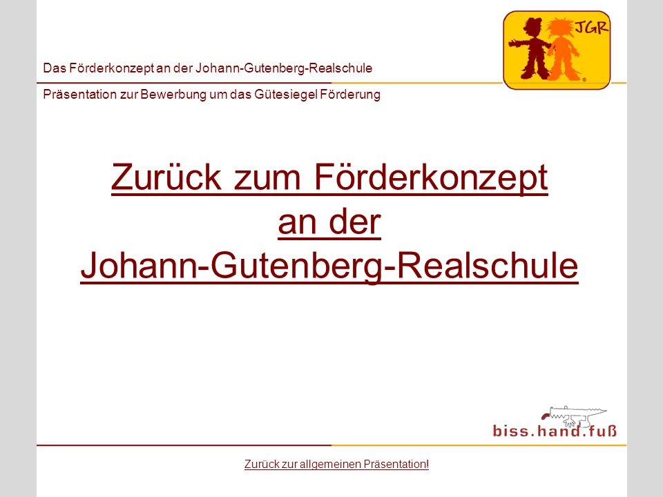 Zurück zum Förderkonzept an der Johann-Gutenberg-Realschule