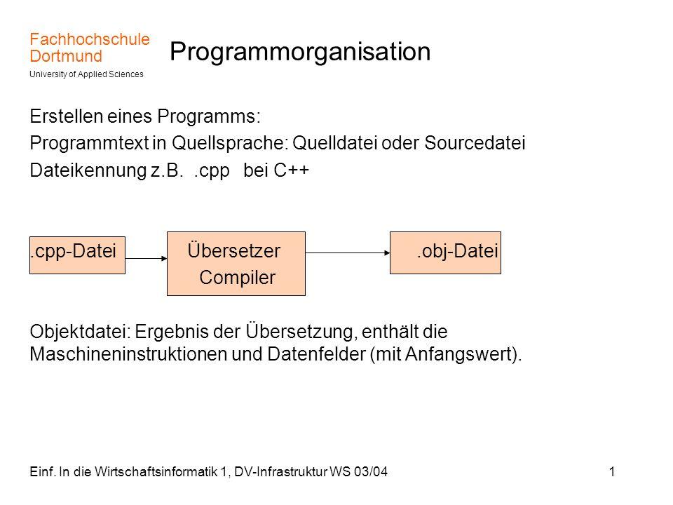 Programmorganisation