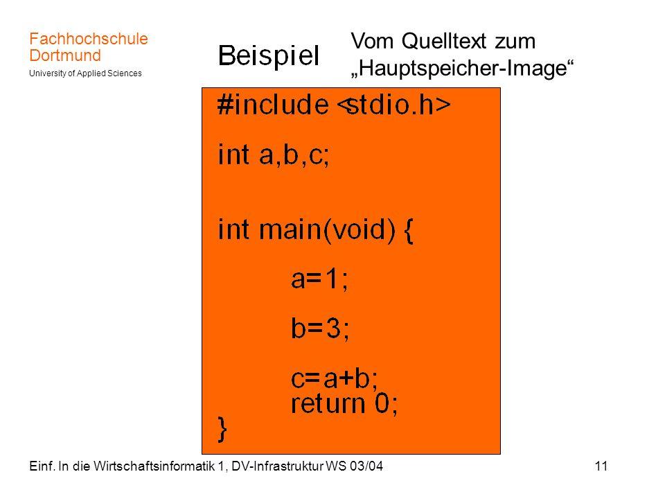 """Vom Quelltext zum """"Hauptspeicher-Image"""