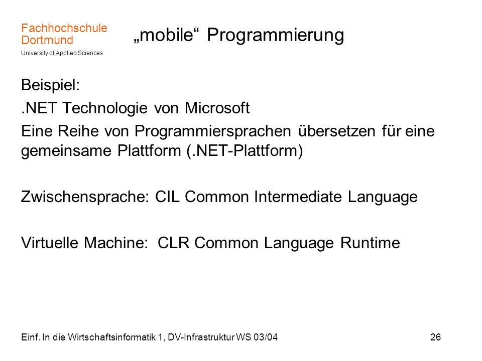 """mobile Programmierung"