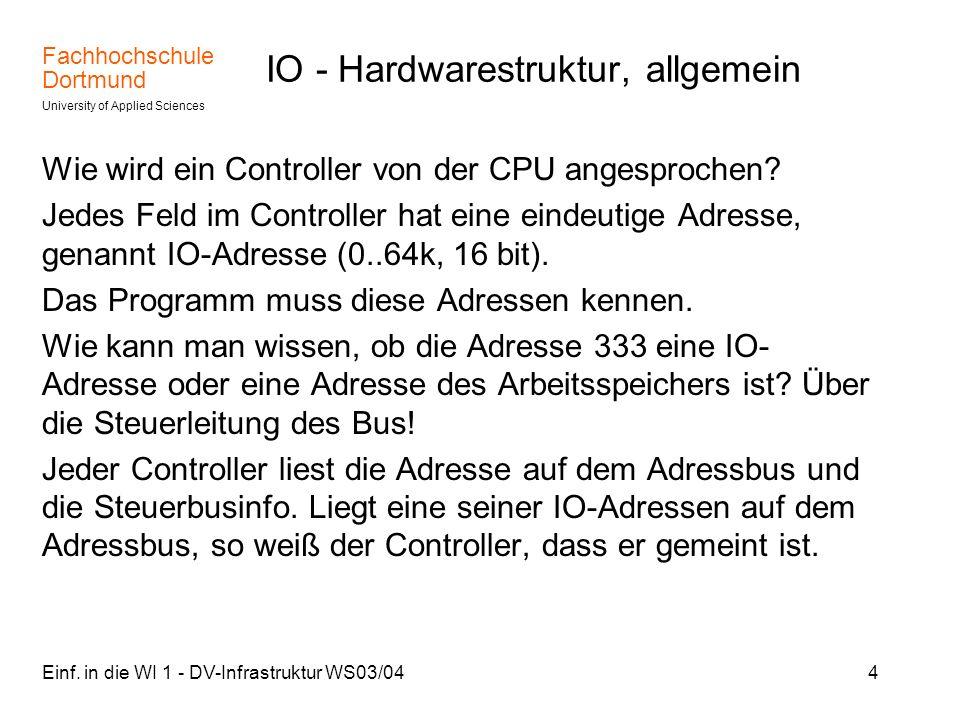 IO - Hardwarestruktur, allgemein