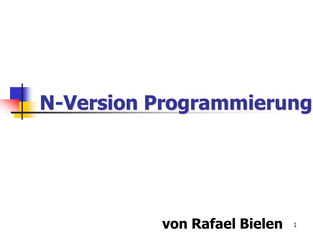 N-Version Programmierung