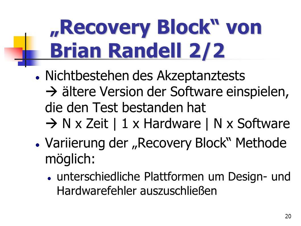 """Recovery Block von Brian Randell 2/2"
