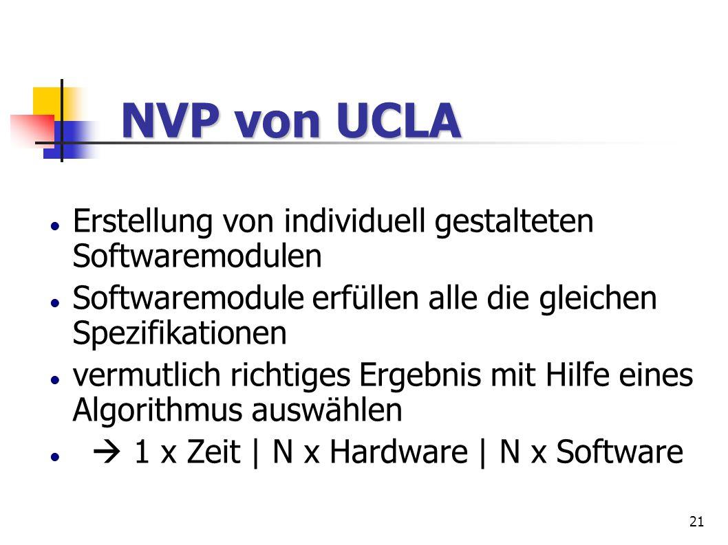 NVP von UCLA Erstellung von individuell gestalteten Softwaremodulen