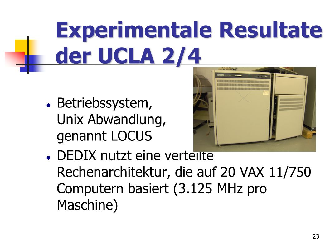 Experimentale Resultate der UCLA 2/4