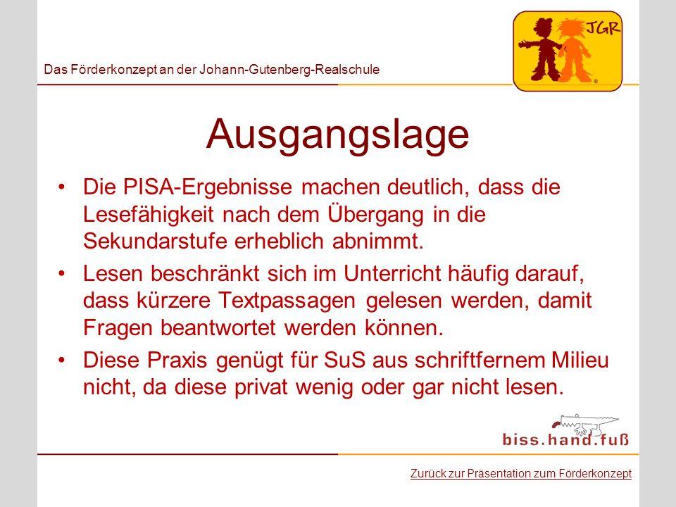 Das Förderkonzept an der Johann-Gutenberg-Realschule