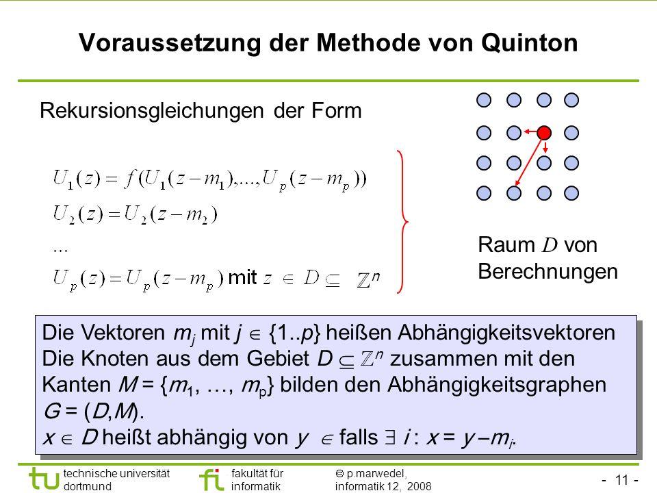 Voraussetzung der Methode von Quinton
