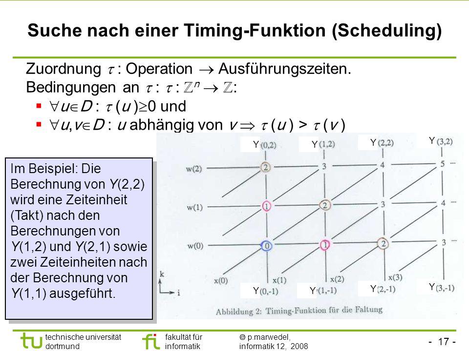 Suche nach einer Timing-Funktion (Scheduling)