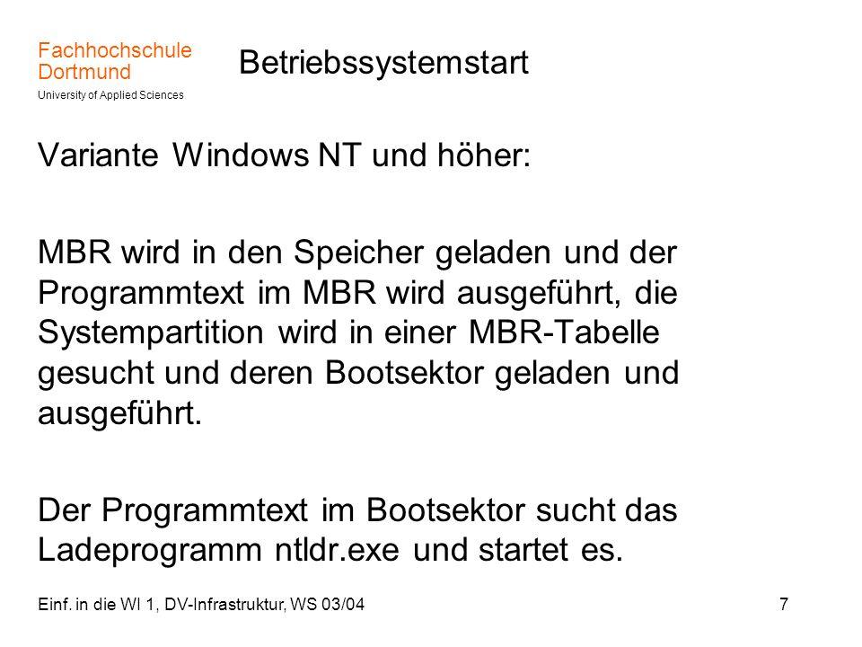 Variante Windows NT und höher: