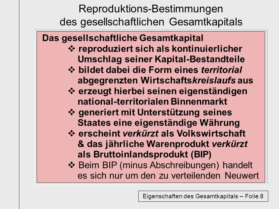 Reproduktions-Bestimmungen des gesellschaftlichen Gesamtkapitals