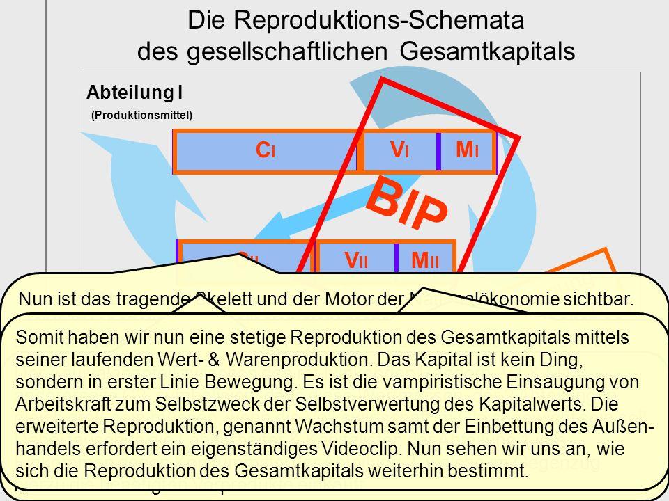 BIP Die Reproduktions-Schemata des gesellschaftlichen Gesamtkapitals