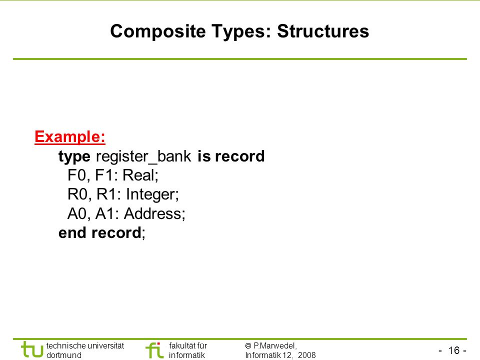 Composite Types: Structures