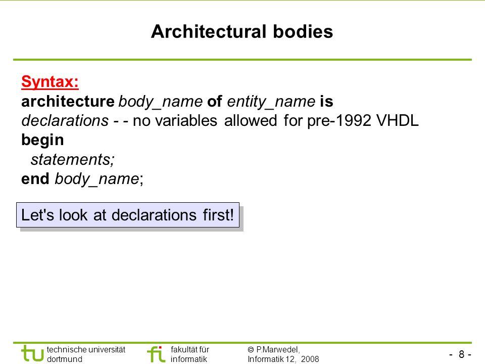 Architectural bodies