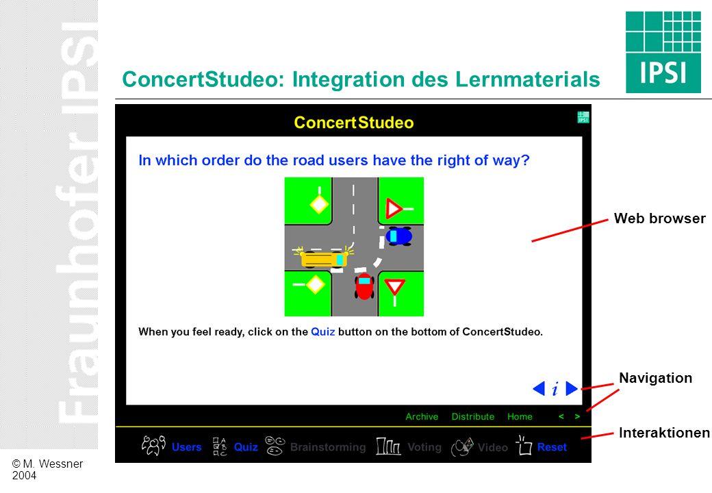 ConcertStudeo: Integration des Lernmaterials