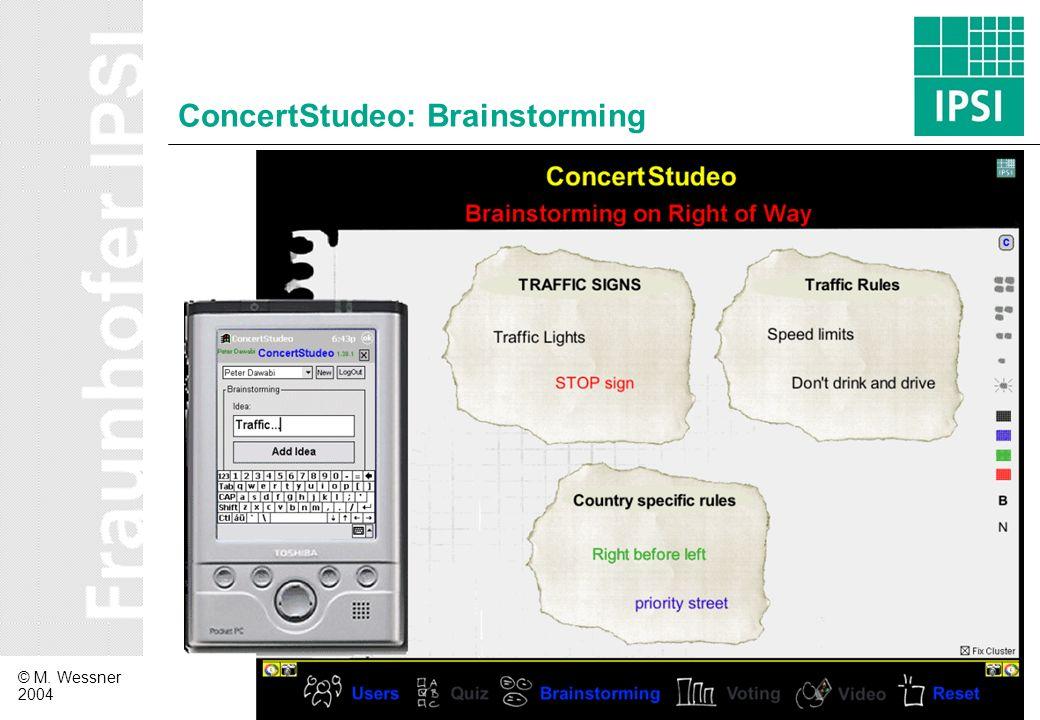 ConcertStudeo: Brainstorming
