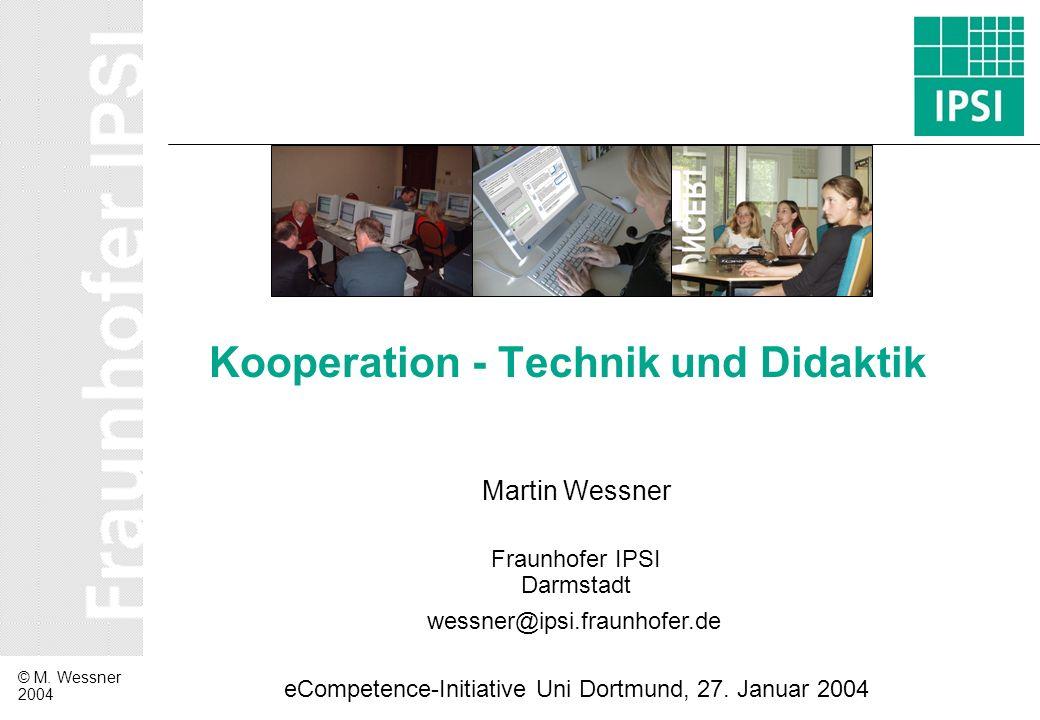 Kooperation - Technik und Didaktik