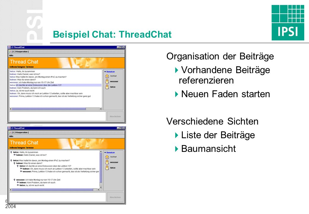 Beispiel Chat: ThreadChat