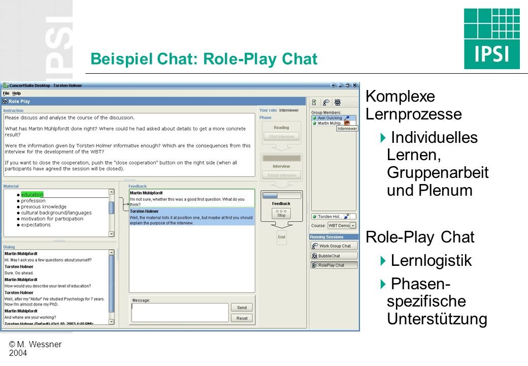 Beispiel Chat: Role-Play Chat