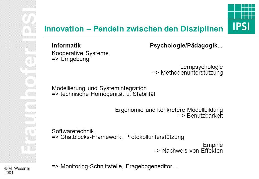 Innovation – Pendeln zwischen den Disziplinen