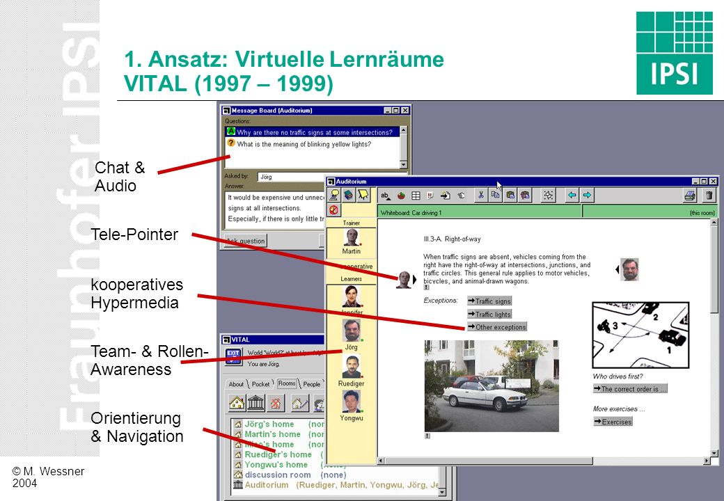 1. Ansatz: Virtuelle Lernräume VITAL (1997 – 1999)