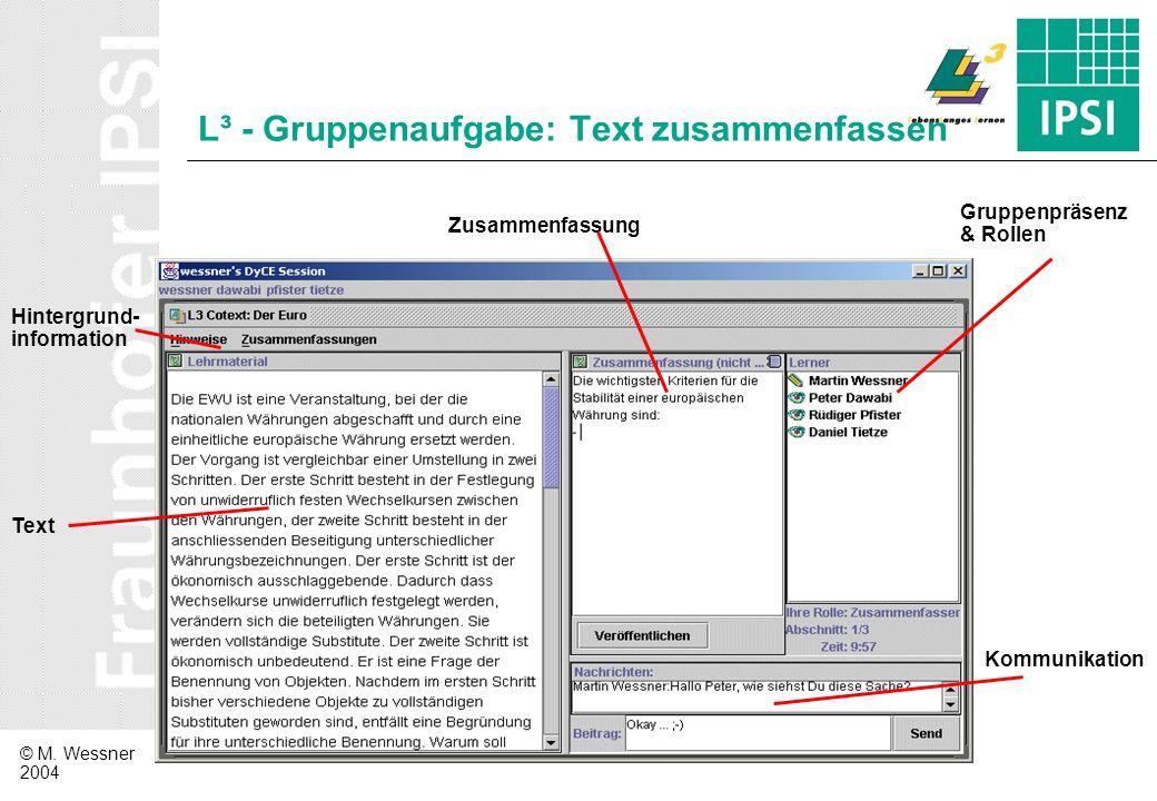 L³ - Gruppenaufgabe: Text zusammenfassen