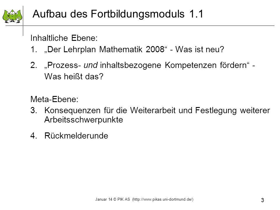 Aufbau des Fortbildungsmoduls 1.1