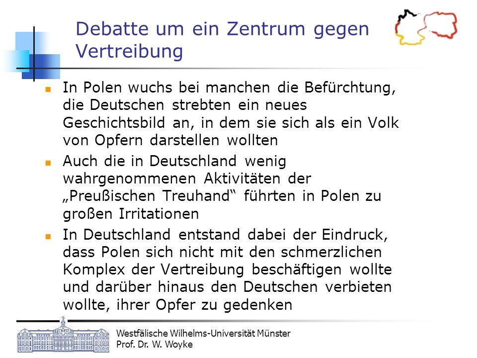 Debatte um ein Zentrum gegen Vertreibung