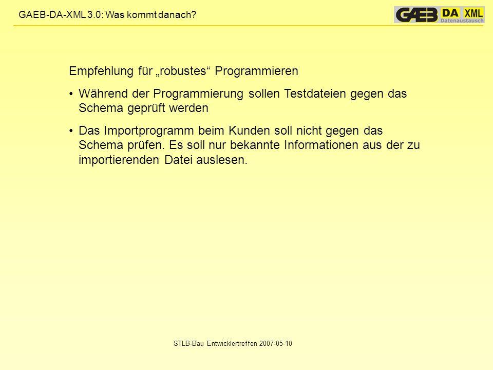 """Empfehlung für """"robustes Programmieren"""