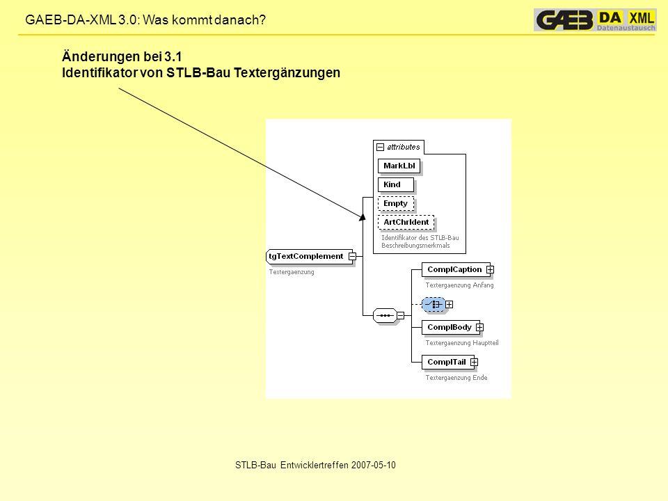 Identifikator von STLB-Bau Textergänzungen