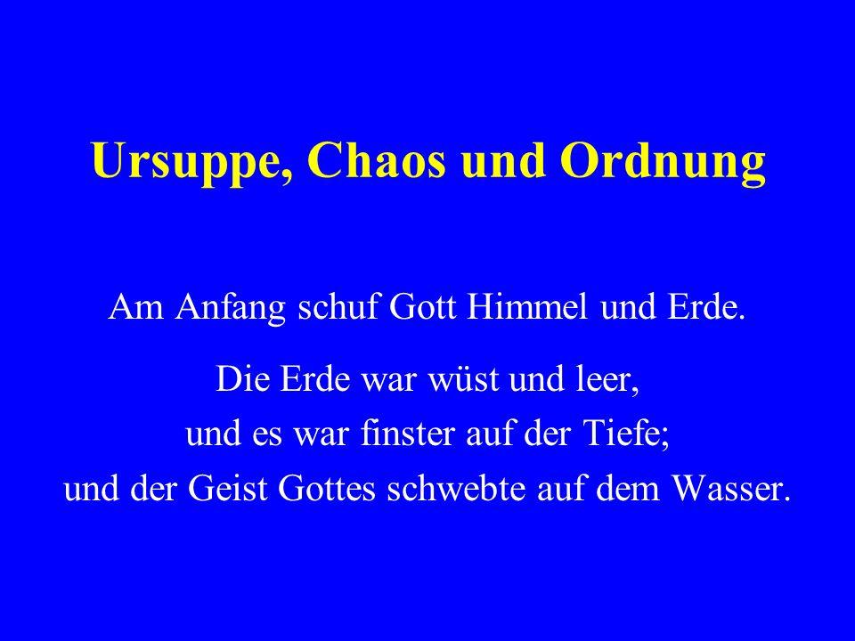 Ursuppe, Chaos und Ordnung