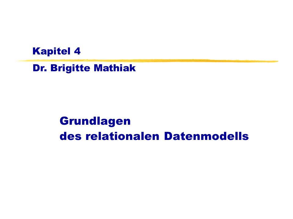 Grundlagen des relationalen Datenmodells