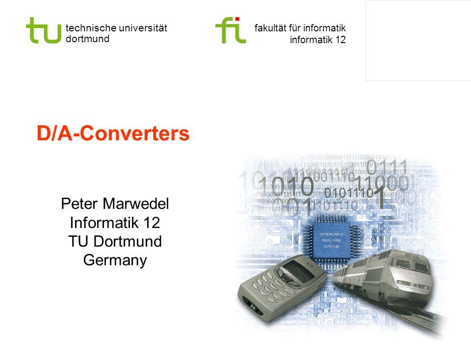 Peter Marwedel Informatik 12 TU Dortmund Germany
