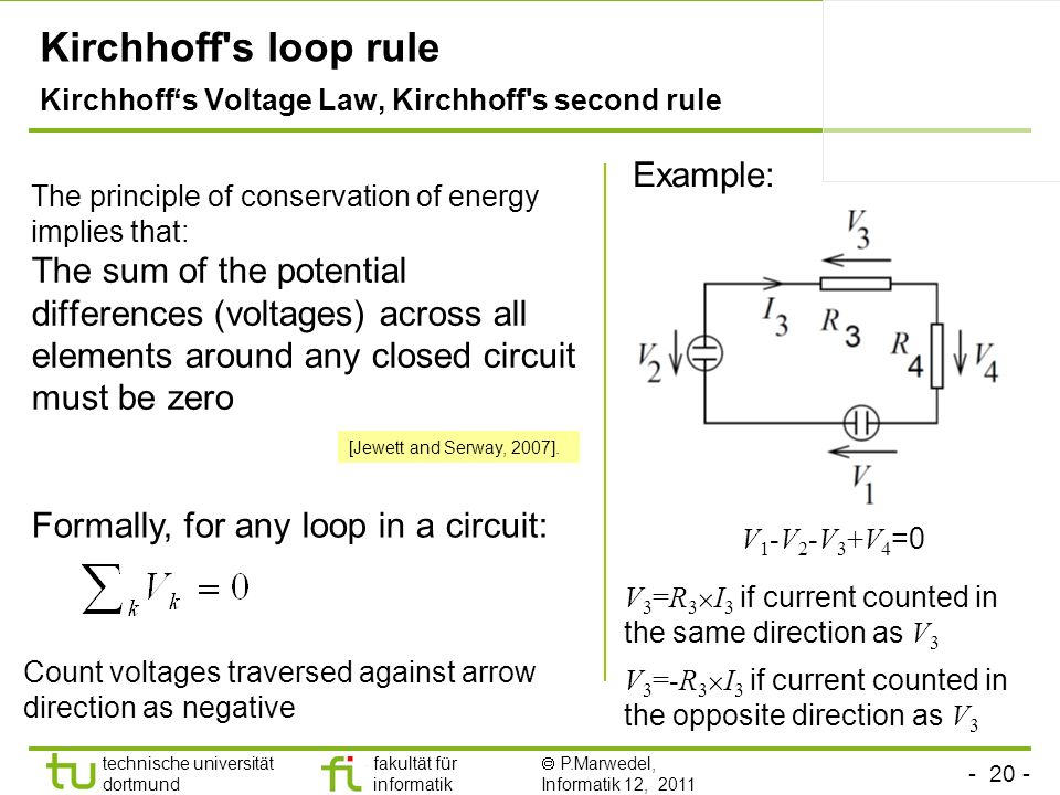 Kirchhoff s loop rule Kirchhoff's Voltage Law, Kirchhoff s second rule
