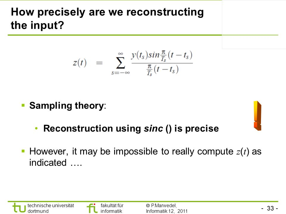 How precisely are we reconstructing the input