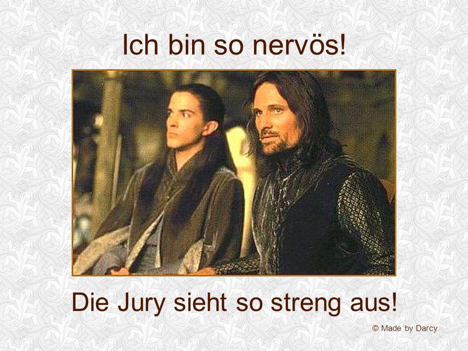 Die Jury sieht so streng aus!
