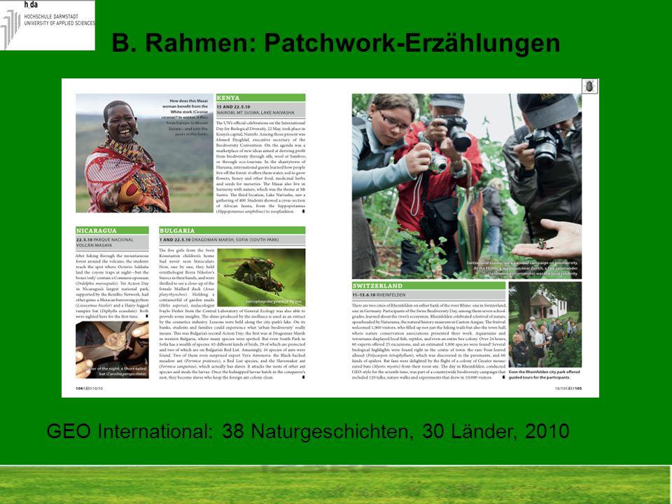 B. Rahmen: Patchwork-Erzählungen