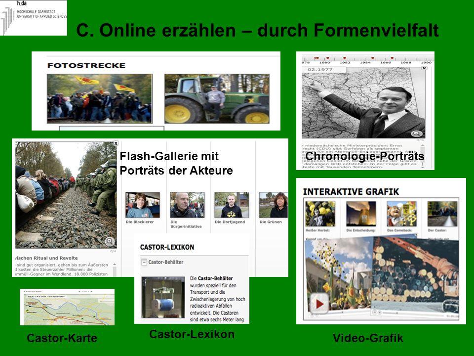 C. Online erzählen – durch Formenvielfalt