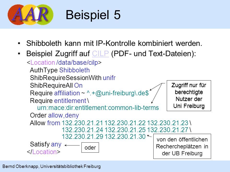 Beispiel 5 Shibboleth kann mit IP-Kontrolle kombiniert werden.