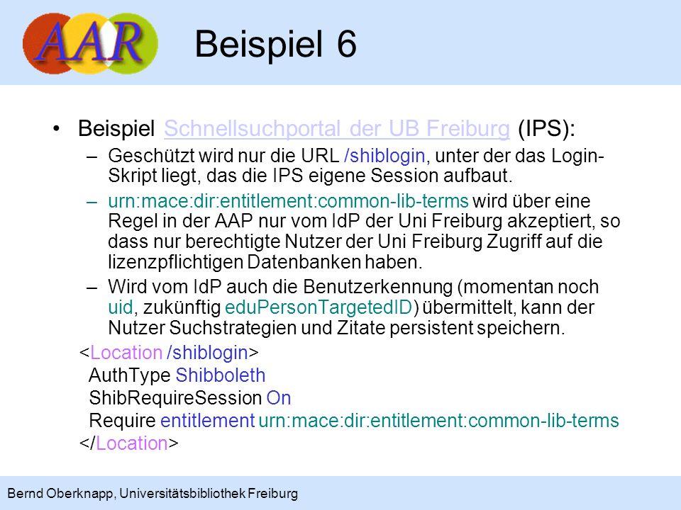 Beispiel 6 Beispiel Schnellsuchportal der UB Freiburg (IPS):