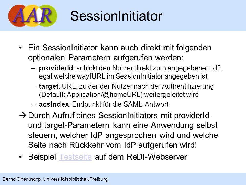SessionInitiator Ein SessionInitiator kann auch direkt mit folgenden optionalen Parametern aufgerufen werden: