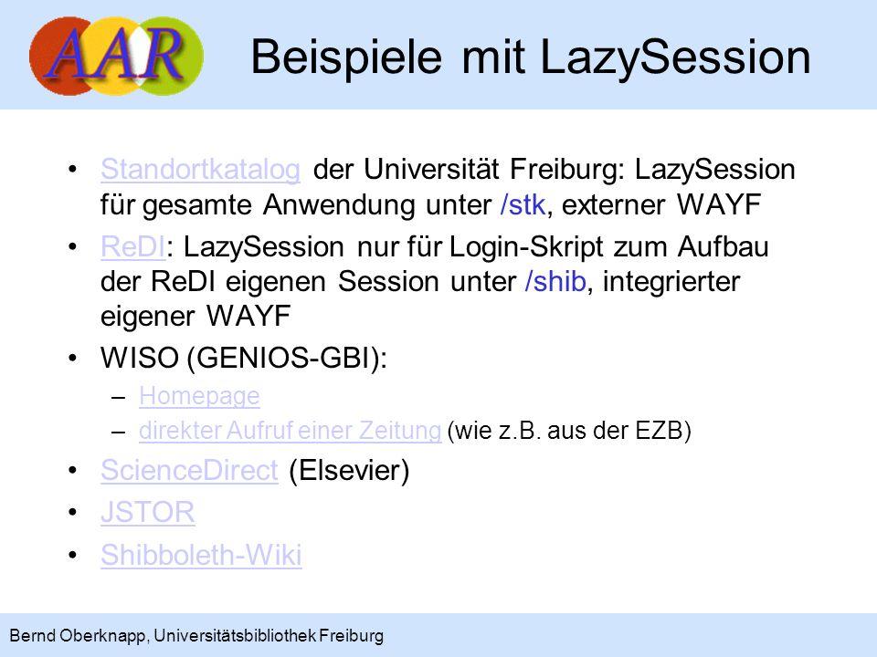 Beispiele mit LazySession