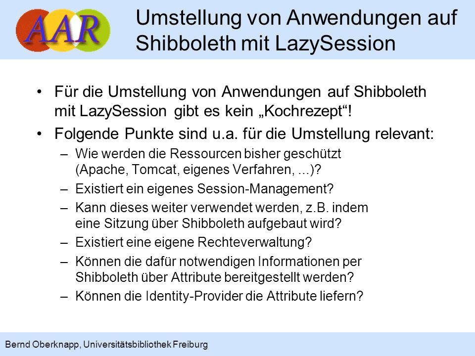 Umstellung von Anwendungen auf Shibboleth mit LazySession