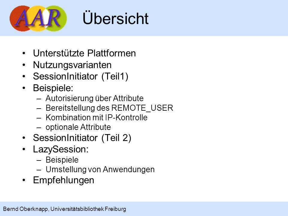 Übersicht Unterstützte Plattformen Nutzungsvarianten