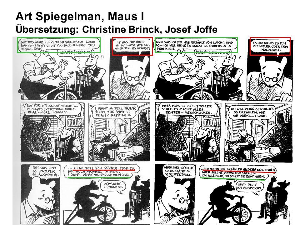 Art Spiegelman, Maus I Übersetzung: Christine Brinck, Josef Joffe