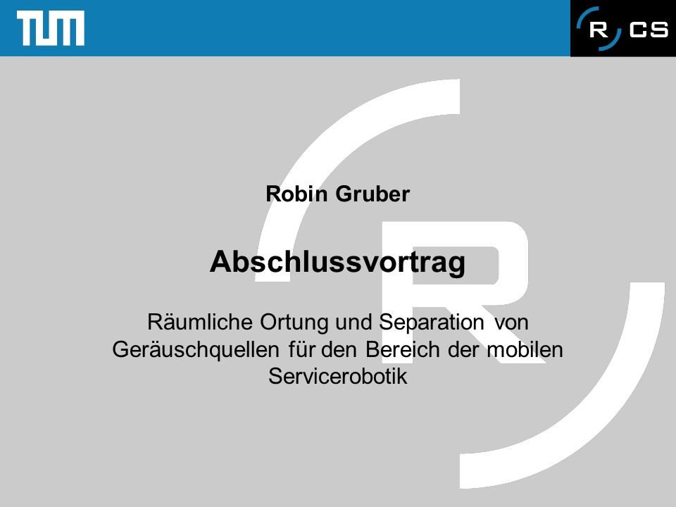 Robin Gruber Abschlussvortrag