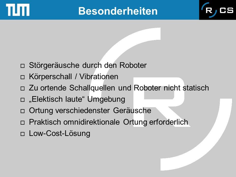 Besonderheiten Störgeräusche durch den Roboter