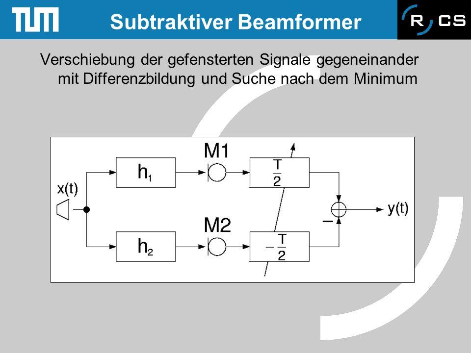 Subtraktiver Beamformer