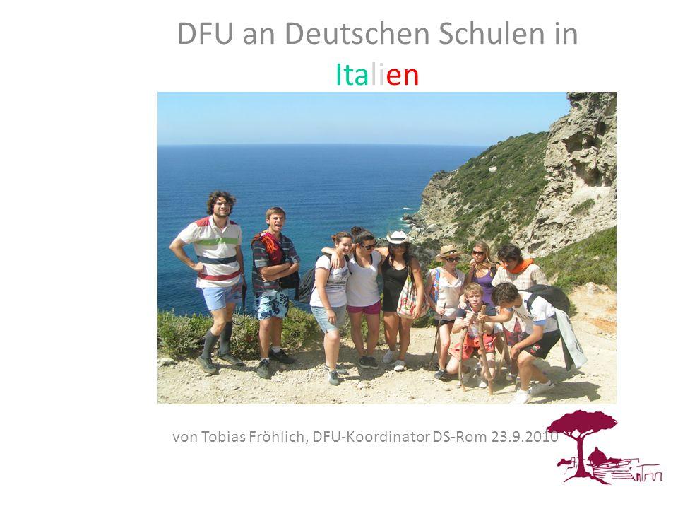 DFU DFU an Deutschen Schulen in Italien