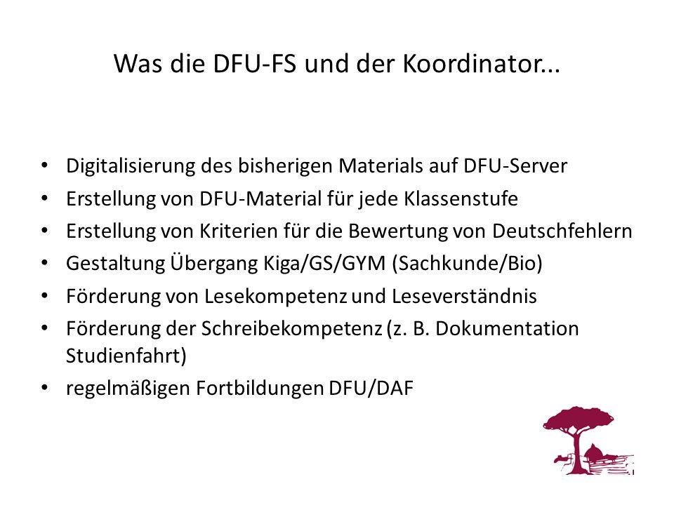 Was die DFU-FS und der Koordinator...